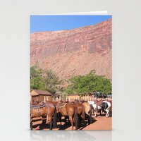 utah Stationery Cards featuring Horses Utah by BACK to THE ROOTS