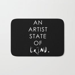 NY state of mind, Artist state of grind Bath Mat