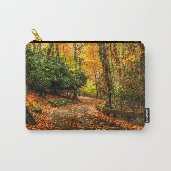 A Path through Autumn Carry-All Pouch