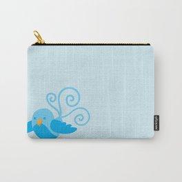 Pretty Blue bird Carry-All Pouch