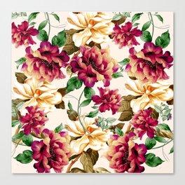 Vintage flowers1 Canvas Print