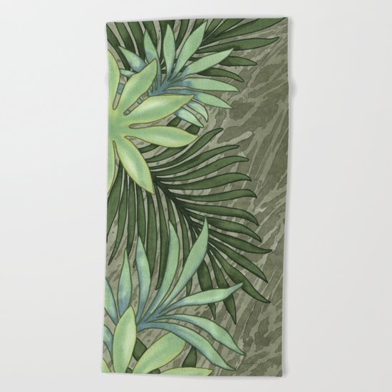 A Run Through the Jungle Beach Towel