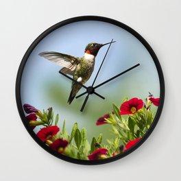 Hummingbird Frolic Wall Clock