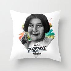 TERRIBLE Throw Pillow