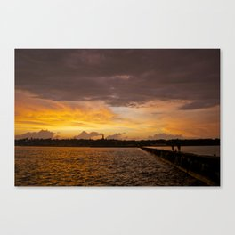 Small town Skyline Canvas Print