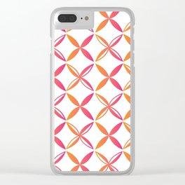 Urban Nesian Pink and Orange Siapo Clear iPhone Case