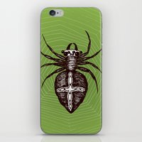 spider iPhone & iPod Skins featuring Spider by Bwiselizzy