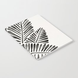 Tropical Banana Leaves – Black Palette Notebook