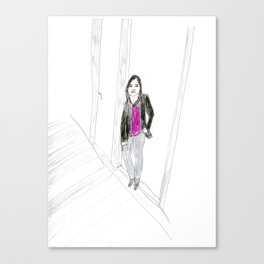 Biro Portrait of a Londoner Canvas Print