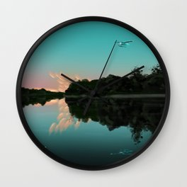 Flying over Minnesota Lakes Wall Clock