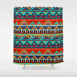 Affrican pattern, abstract geometric pattern Shower Curtain