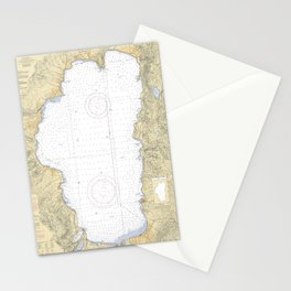 Lake Tahoe Map (2004) Stationery Cards