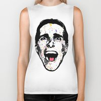 american psycho Biker Tanks featuring American Psycho by CultureCloth