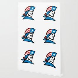 American Patriot Head USA Flag Mascot Wallpaper