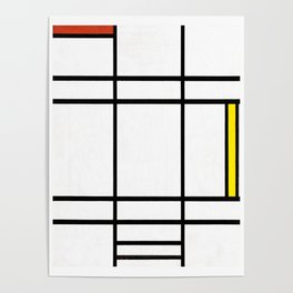 Piet Mondrian - Composition in White, Red, and Yellow Poster