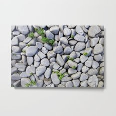 Sea Stones - Gray Rocks, Texture, Pattern Metal Print
