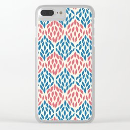 Organic pattern red and blue. Clear iPhone Case