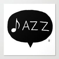 jazz Canvas Prints featuring Jazz by Abel Fdez