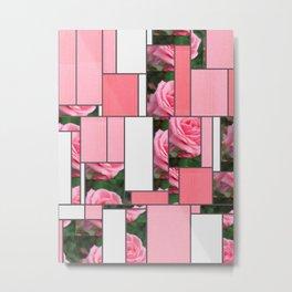 Pink Roses in Anzures 2 Art Rectangles 9 Metal Print