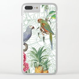 Birds on the Map Clear iPhone Case