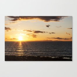 Sunset from Kilmore Quay, wexford looking toward Hook Head Canvas Print