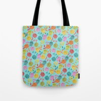 roses Tote Bags featuring ROSES by Bianca Green