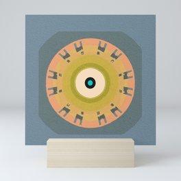 Soverignty & Health Meditation Tribal Evil Eye Protective Modern Mandala Mini Art Print
