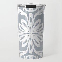 White on grey Travel Mug