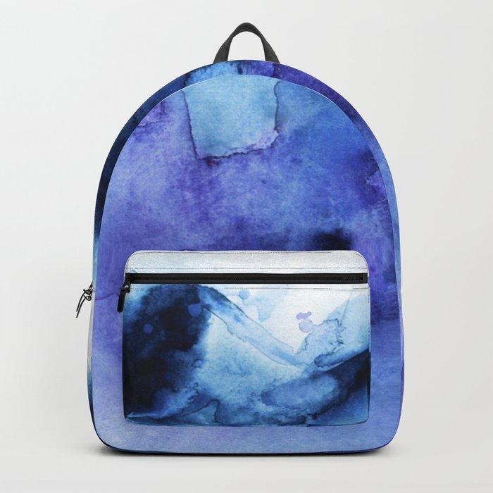 Abstract Indigo Purple Mountians Backpack