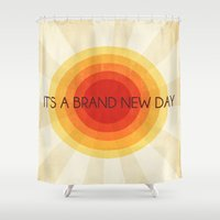 brand new Shower Curtains featuring brand new day by Prairie Sweet Boutique