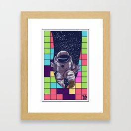 tetris space  by joejr  Framed Art Print