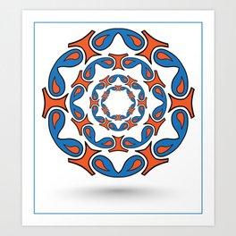 abstract mandala tribal Art Print