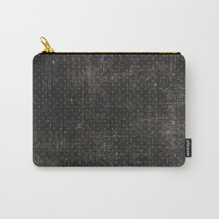 Vintage geometrical black brown polka dots pattern Carry-All Pouch