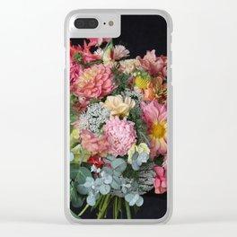 Lush Peachy Bouquet Clear iPhone Case