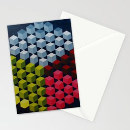 a cube made of cubes Stationery Cards