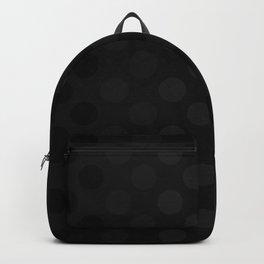 """Black & Grey Burlap Texture & Polka Dots"" Backpack"