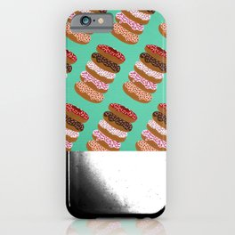 Stacked Donuts on Mint iPhone Case