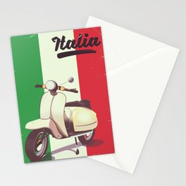 Italia Scooter vintage poster Stationery Cards