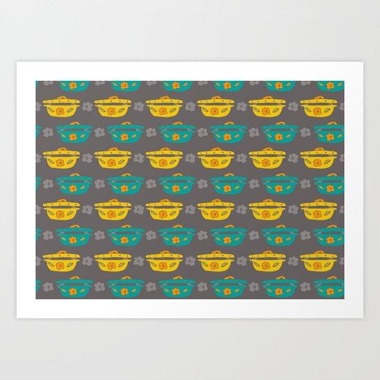 Casserole Dishes Art Print