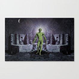 Ruin in Moonlight Canvas Print