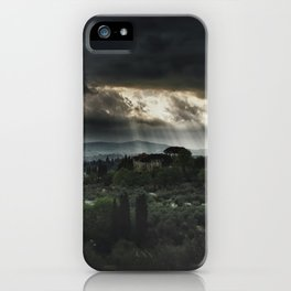 Beams of light over Florence iPhone Case
