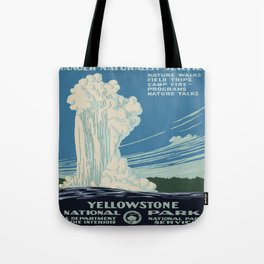 Vintage poster - Yellowstone Tote Bag