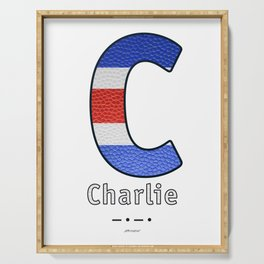 Charlie - Navy Code Serving Tray