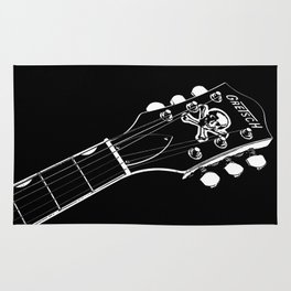 Gretsch Head - Headstock - Rockabilly - Rock Star - Music Rug
