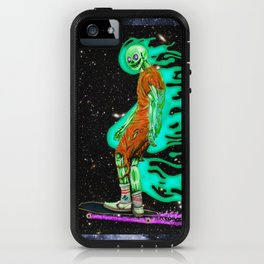 No one can hear you skate in space iPhone Case
