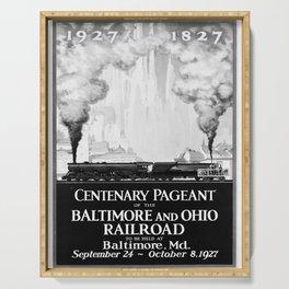 retro monochrome Centenary Pageant Serving Tray
