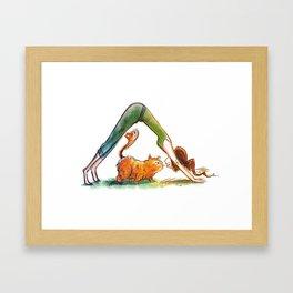 Up Cat Framed Art Print