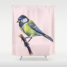 Parus major Shower Curtain