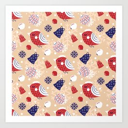 Merry pattern Art Print