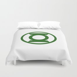 Green Space Cops Logo Duvet Cover